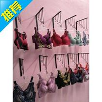 Wall-mounted lingerie hook bra rack underwear display shelf clothing store bra shorts panties shelf wall rack.