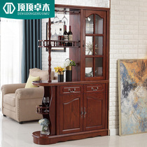Toptop Zhuo wood Solid wood room cabinet partition cabinet American wine cabinet entrance hall cabinet lockers screen double-sided shoe cabinet