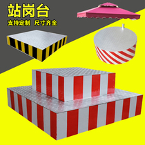 Thick section double traffic command station guard cell property round Security reflective guard shade platform