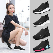 Summer New ins Super fire elastic socks shoes women low to help a flat pedal tide comfortable Wild old shoes