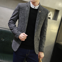 Small suit man slimming autumn and Winter Youth Korean edition casual suit coat men handsome hundred single Top Tide