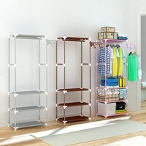 Take clothes hanging clothes hanger bedroom multi-functional floor simple shoe cabinet coat rack Assembly hanger shoe rack one