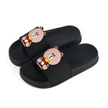Childrens slippers boys summer parent-child cartoon indoor non-slip cute home bathroom slippers female couple sandals.