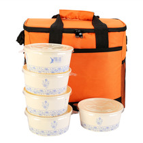 Waterproof takeaway incubator room portable lunch box picnic ice bag outdoor car food insulation package home trumpet