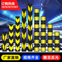 Reflective rubber corner strip corner bumper strip corner traffic sign parking lot basement garage outline mark