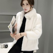 2018 new winter mink coat whole Mink fashion short Mink Slim Slim Thin imitation mink fur coat female tide