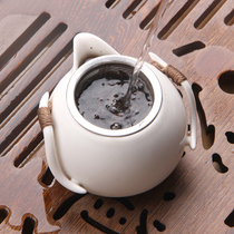 Rice wood stainless steel tea leak tea tea filter tea filter silver metal tea filter
