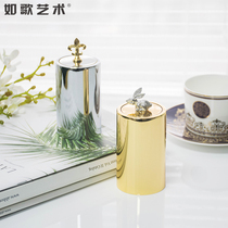 Comme Song Art ins Nordic HIGH-grade inox pressing automatic net red toothpick box canister baril creative home