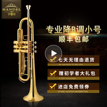 Handel trumpet down B tone trumpet childrens student grading beginner phosphorus copper blow pipe trumpet instrument HTR-301