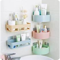 Free punch kitchen bathroom shelf bathroom suction wall storage rack wall plastic toilet suction cup tripod