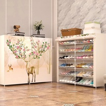 Shoe rack simple multi-layer household Assembly economical space-saving dormitory storage dust-proof small shoe rack foyer cloth shoe cabinet