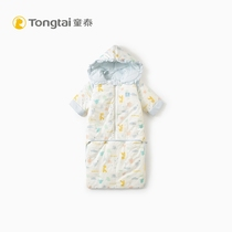 Tong Tai 2019 new baby cotton bedding men and women baby hooded cotton sleeping bag baby anti-kick
