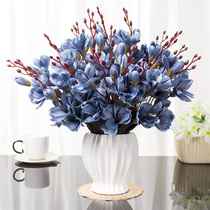 Table fake flower European decorative coffee table simulation Magnolia Indoor pendulum flower decoration living room anti-real bouquet decoration