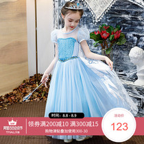 Frozen princess dress Aisha girl dress Aisha summer little girl love sand birthday dress skirt