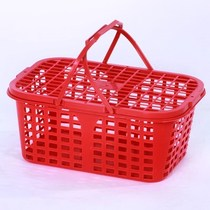 Disposable plastic blue turnover fruit basket 4 6 8 10 kg loaded sand sugar orange Bayberry basket with lid Fruit Box