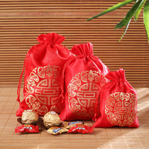 Chinese wind auspicious bag candy bag happy character brocade bag wedding celebration supplies Candy Box Candy bag