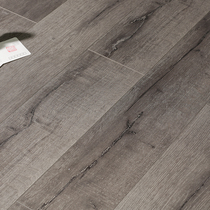 Reinforced Laminate Flooring Factory Direct sales retro grey open crack household wood flooring 12MM environmental protection wear-resistant floor heating