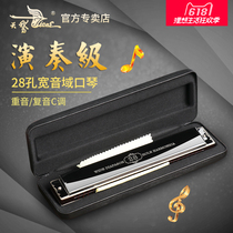 Senior harmonica 24 hole 28 hole C-tone accented harmonica senior adult professional beginner playing harmonica instruments