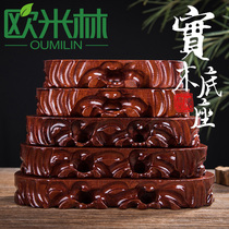 tb12 flat long strip root carving ornaments ornamental stone base solid wood can be dug odd stone base Wood