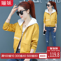 Short hooded Jacket Womens wear 2019 spring and Autumn winter new Korean loose jacket spring small baseball suit