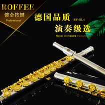 Germany ROFFEE Roffee 17 hole inline flute nickel silver flute head Gold Key professional playing grade flute instrument