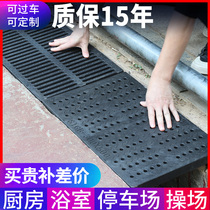 Polymer gutter cover kitchen sewer cover round hole car wash trench cover stainless steel composite grate