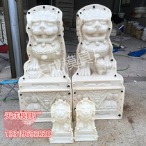 Roman column mold lion cement member male and female lion building template high-strength ABS material fence