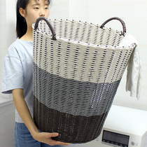 Plastic rattan dirty clothes basket dirty clothes storage basket clothing household laundry basket clothes basket toy barrel knitting box basket