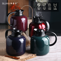 Snuka insulation pot home 304 stainless steel insulation kettle car warm kettle European thermos warm pot