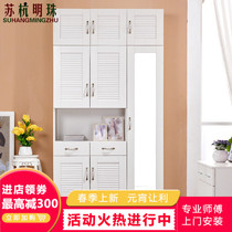 Foyer Cabinet cloakroom shoe cabinet with hanger shoe cabinet with mirror shoe cabinet hanger simple modern living room locker