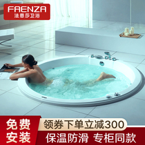 Faenza double round large bathtub home insulation embedded couples massage surfing 1 5 acrylic FW046