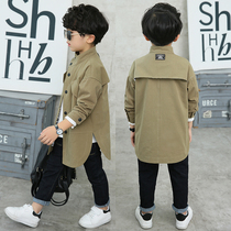 Like Dad boy windbreaker Korean version of the new boy spring and autumn children in the long section of the large childrens coat foreign gas