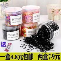 Small rubber ring rubber band Black rubber super good stretch monopoly mixed bar hair gel hair storage