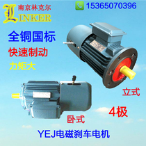 YEJ brake motor AC motor three-phase asynchronous motor electromagnetic brake Motor Motor copper special