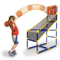 Household children indoor and outdoor shooting machine single double basketball frame foldable childrens parent-child toy shooting game machine
