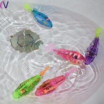 Indoor childrens toy fish simulation plastic girl childrens large fish tank children play water swing baby flash.