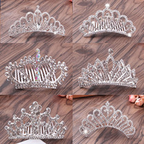 Korean childrens hair accessories Crown Princess headdress hair comb headband bride Crown Accessories Baby birthday gift Crown