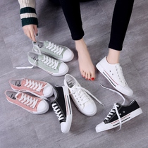 Spring new ins canvas shoes female wild students Korean version of the street beat Harajuku 1992 board shoes ulzzang cloth shoes