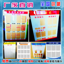 Staff style information bar staff list district property staff publicity bulletin board acrylic post signs