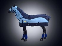 Winter horse clothing autumn and winter models with neck horse clothing 900D waterproof fabric 400g thick cotton