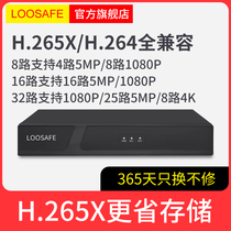 H 265X network DVR 4 8 16-way 1080p digital HD nvr network monitoring host home
