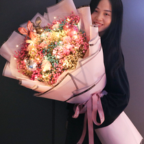 Super large bouquet of stars dried flower gift box to give people the girlfriend creative immortality Peanut Day bouquet real flower flower gift