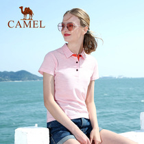 Camel outdoor sports spring and summer 2019 new couple models clean and fresh micro-elastic breathable comfortable skin-friendly POLO shirt