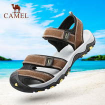 Camel mens shoes 2019 summer breathable beach sandals comfortable leather lightweight non-slip wear-resistant hiking sandals