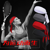 Tie-style tennis hair band Street Outdoor Sports Fitness Men and women turban pirate sweat headband sweat headband