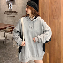 Super fire cec hooded women 2020 autumn new loose Korean version bf lazy wind thin salt coat tide.