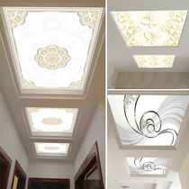 Art Glass Ceiling ceiling modern minimalist landscape painting living room aisle corridor glass ceiling to map custom