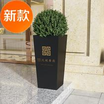 Iron flower box w outdoor pedestrian street flower bed planting box floor flower stand anti-rust sales department large flower box set