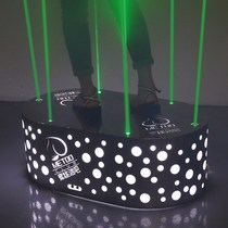 Barre détape laser en acier inoxydable KTV Night beauty DS Table De Danse plate-forme de saut de point mobile à LED