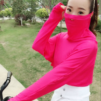Summer new sunscreen shawl mask female one sunscreen driving cycling full face veil neck breathable mask